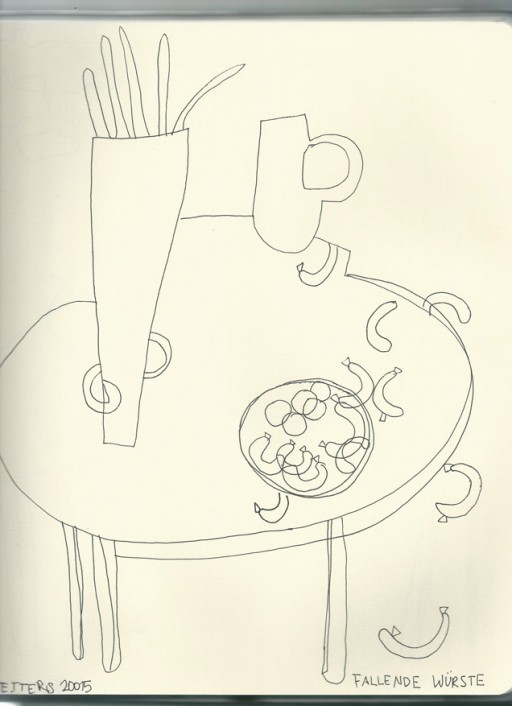 Jule Vetters table drawings 2017